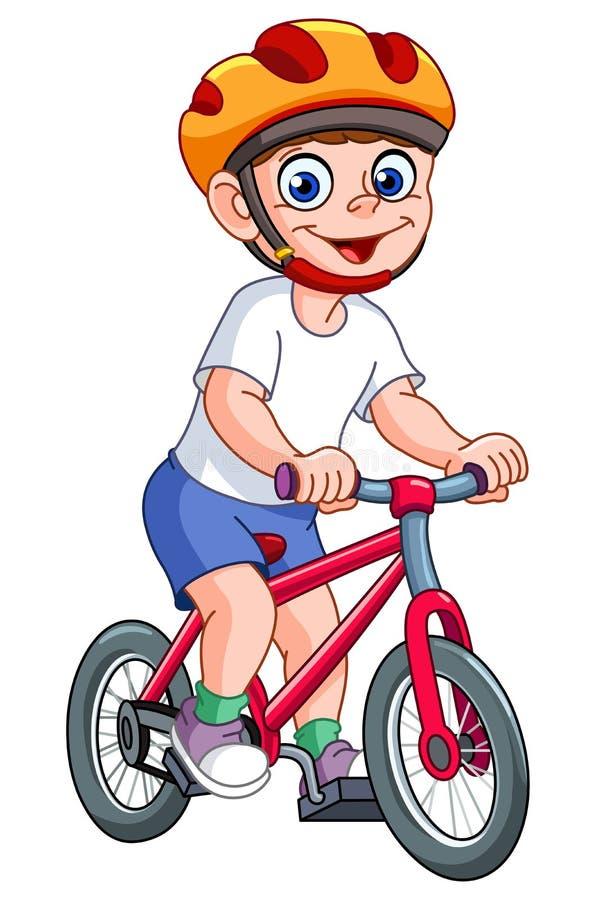 Gosse sur la bicyclette illustration de vecteur