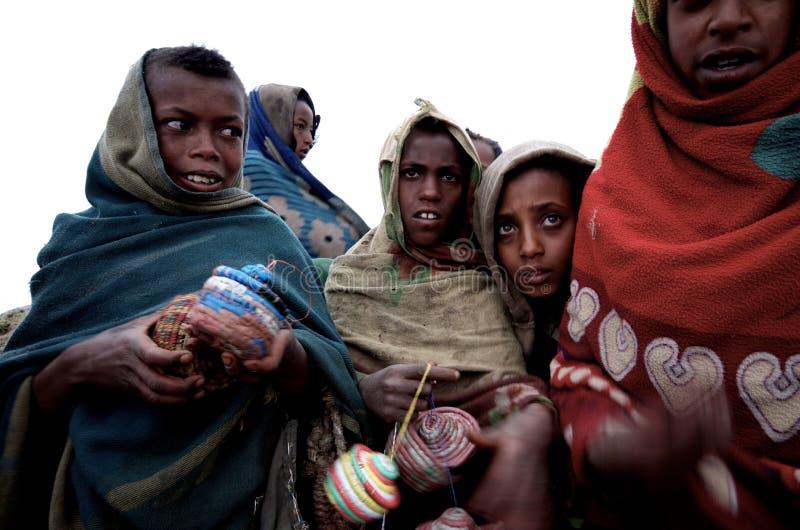 Gosses éthiopiens images stock