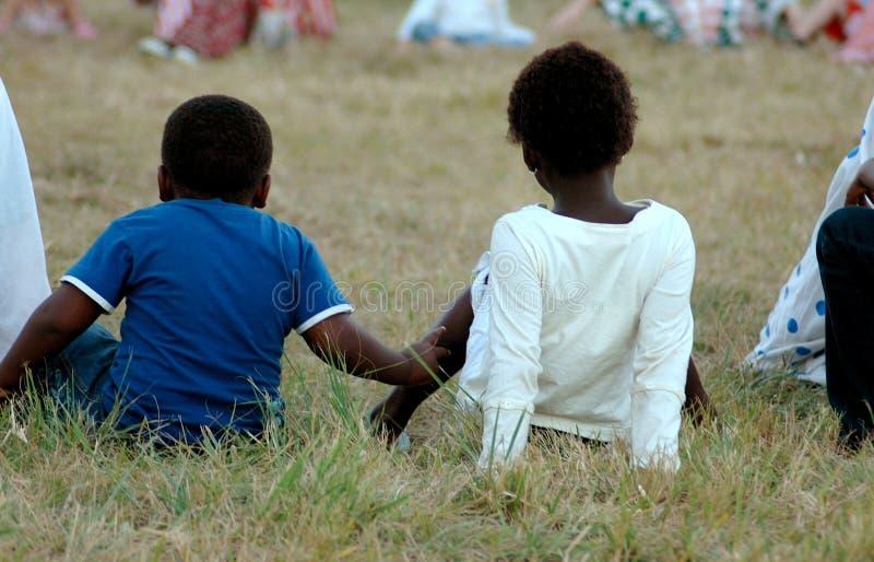 Gosses africains image stock