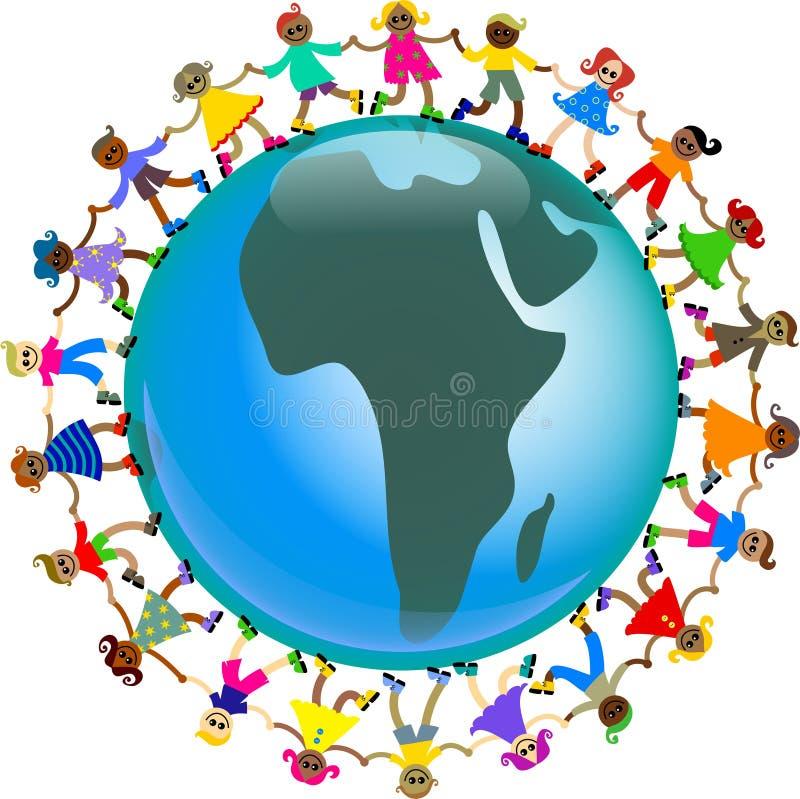 gosses africains illustration stock