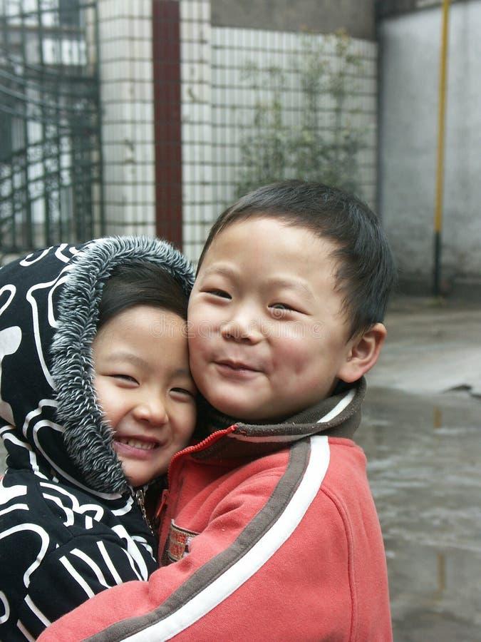 Gosses chinois image libre de droits