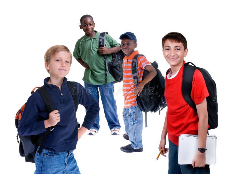 Gosses d'école photos libres de droits