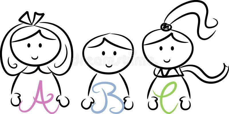 gosses d'ABC II illustration libre de droits
