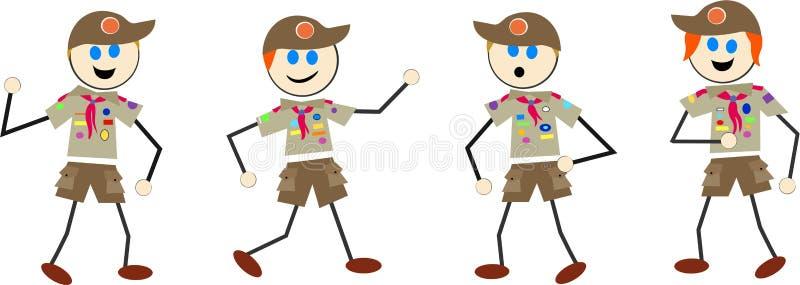 Gosses de scout de garçon illustration de vecteur
