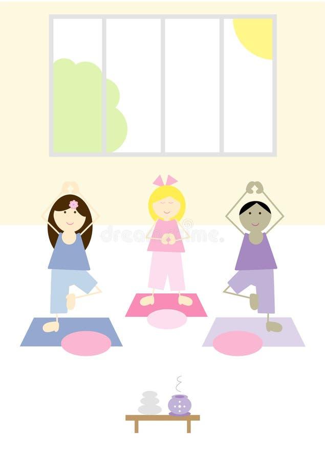 Gosses de yoga (v) illustration libre de droits