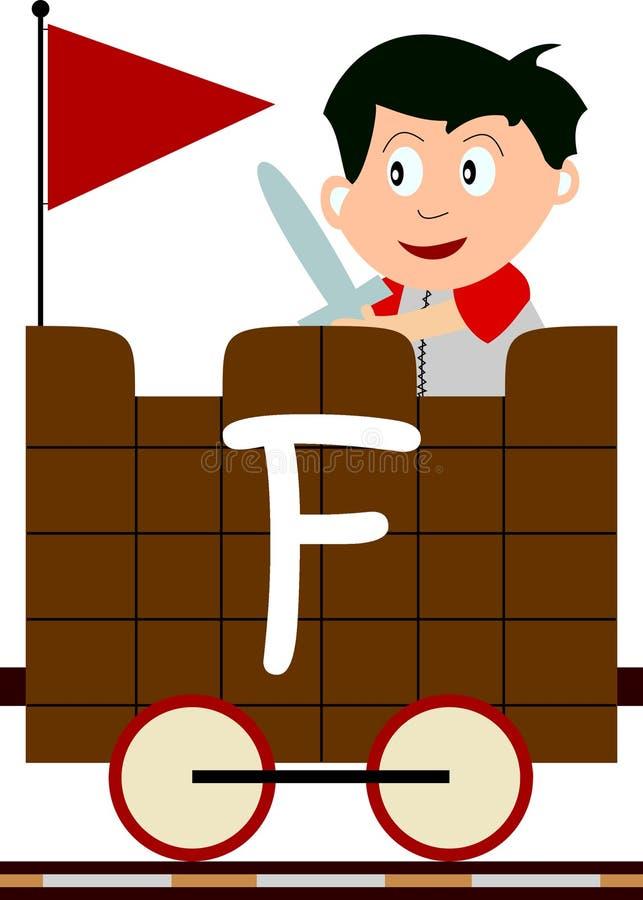 Gosses et séries de train - F illustration de vecteur