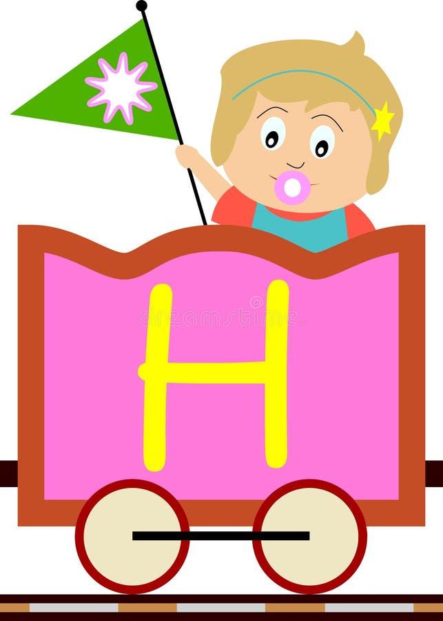 Gosses et séries de train - H illustration stock
