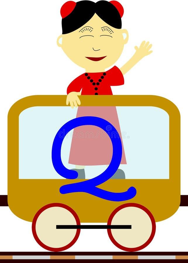 Gosses et séries de train - Q illustration libre de droits