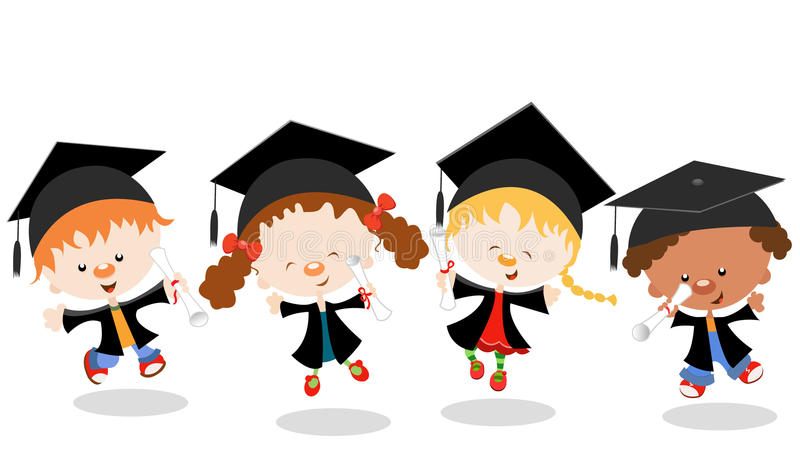 Gosses gradués illustration libre de droits