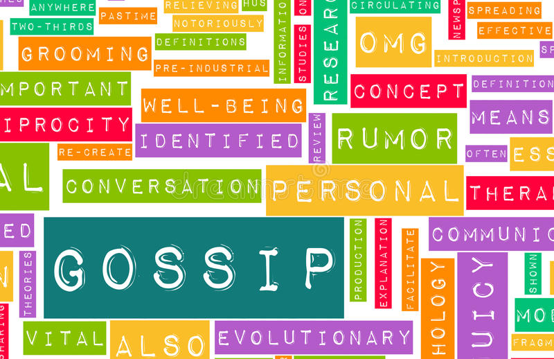 Gossip royalty free illustration