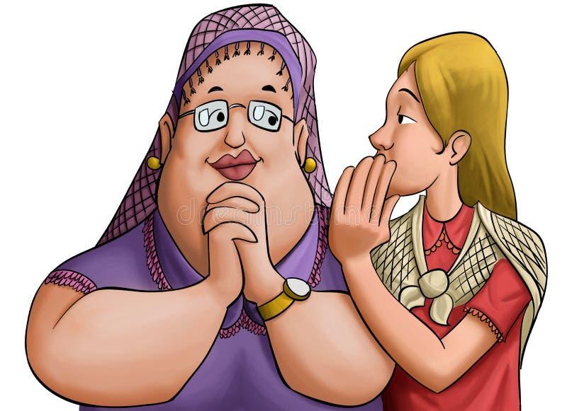 Download The gossip stock illustration. Illustration of full, communication - 18865201