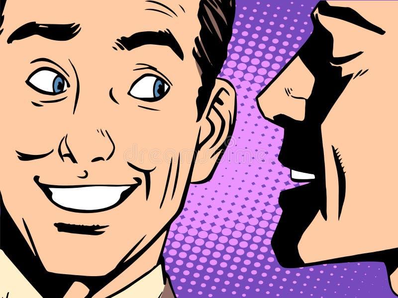 Gossip business concept vector illustration