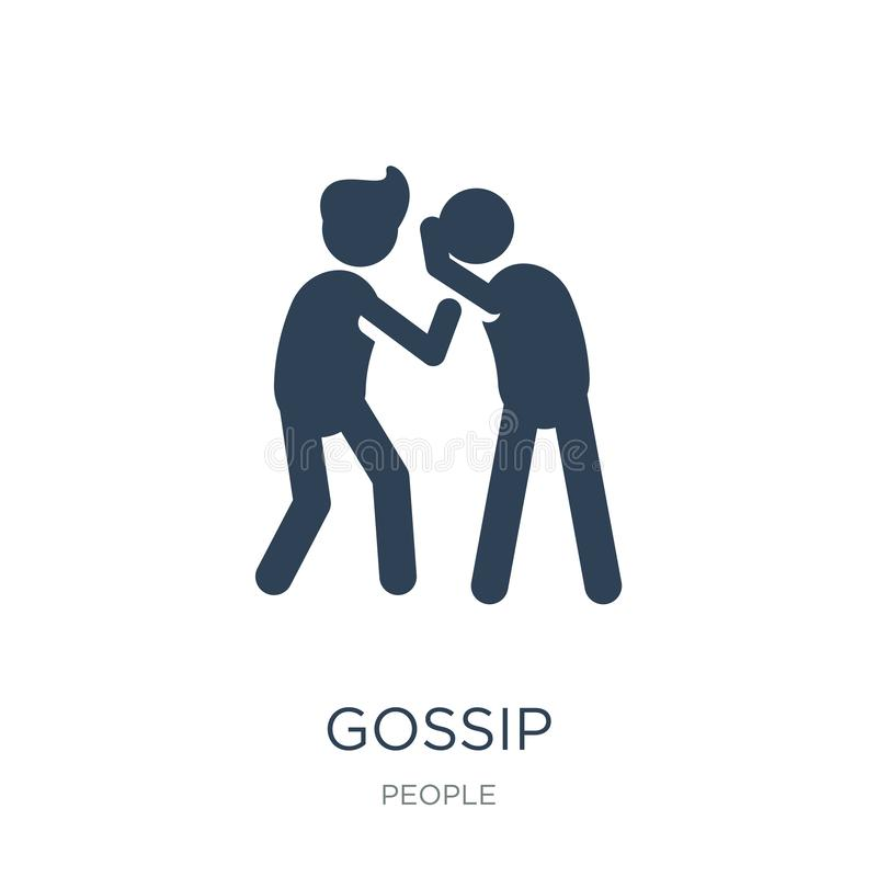 Gossip icon in trendy design style. gossip icon isolated on white background. gossip vector icon simple and modern flat symbol for. Web site, mobile, logo, app royalty free illustration