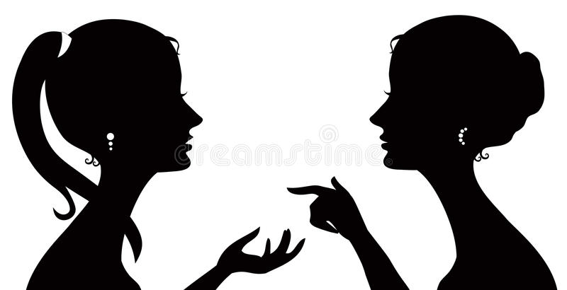 Download Gossip silhouette stock vector. Image of artistic, converse - 26147964