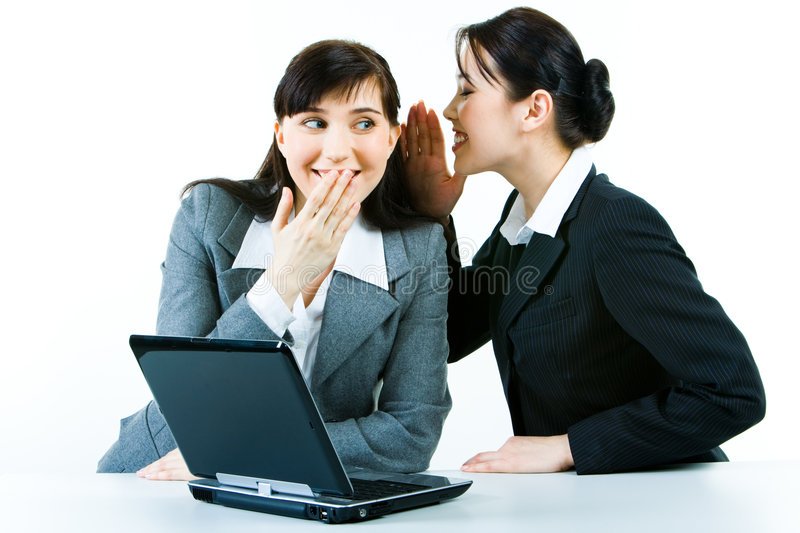Gossip at work royalty free stock photos