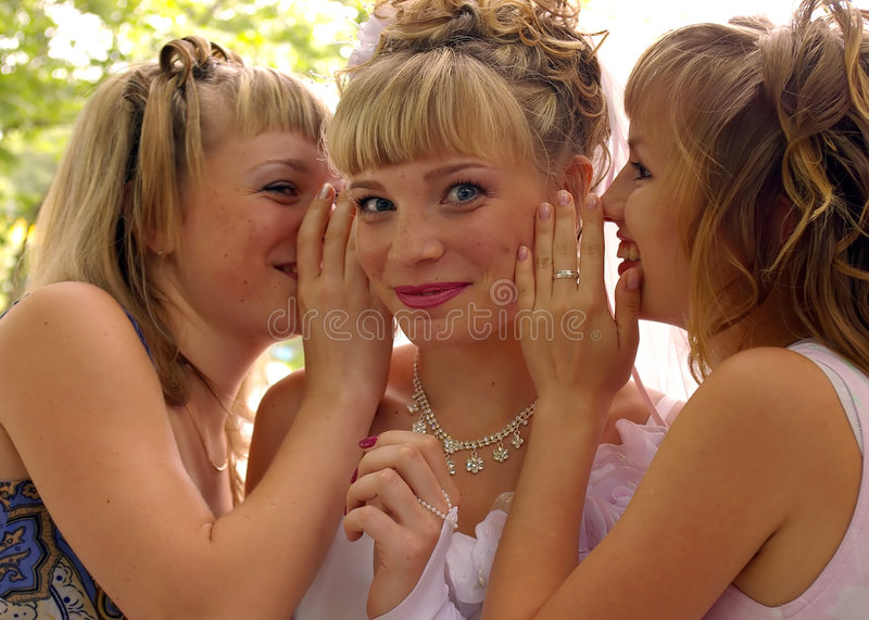 Download Gossiping girls stock image. Image of togetherness, mouth - 5068585