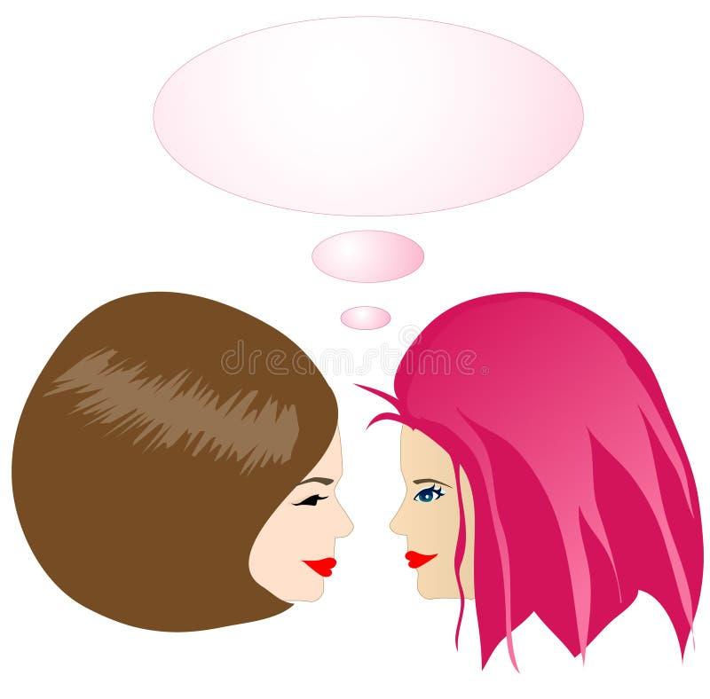 Gossiping girls royalty free stock image
