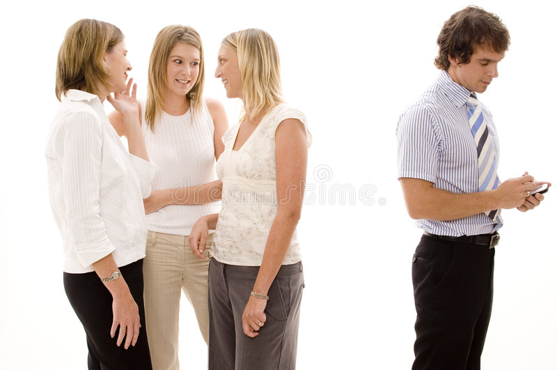 gossipping γραφείο στοκ φωτογραφία