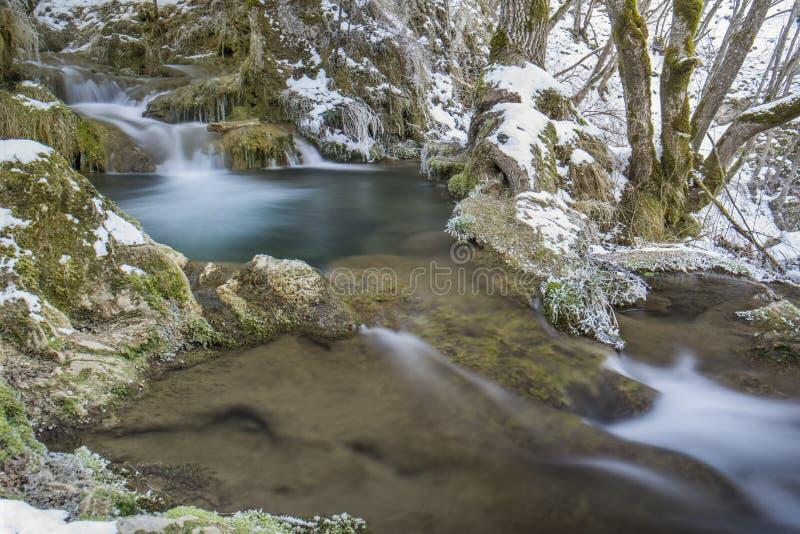 Gostilje Wasserfall lizenzfreie stockbilder