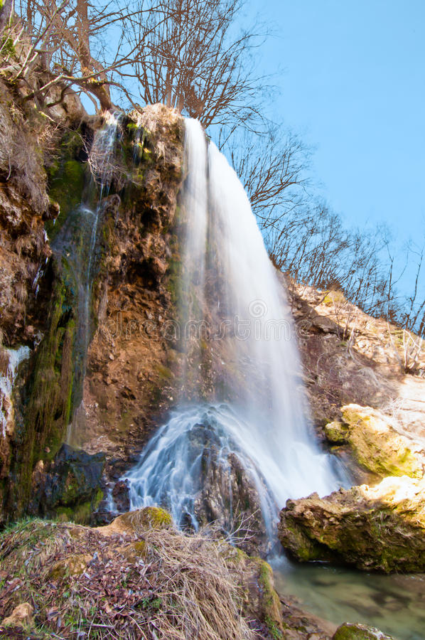 Gostilje waterfall royalty free stock photography