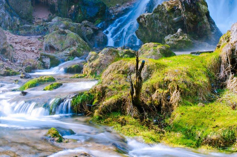 Gostilje waterfalls royalty free stock image