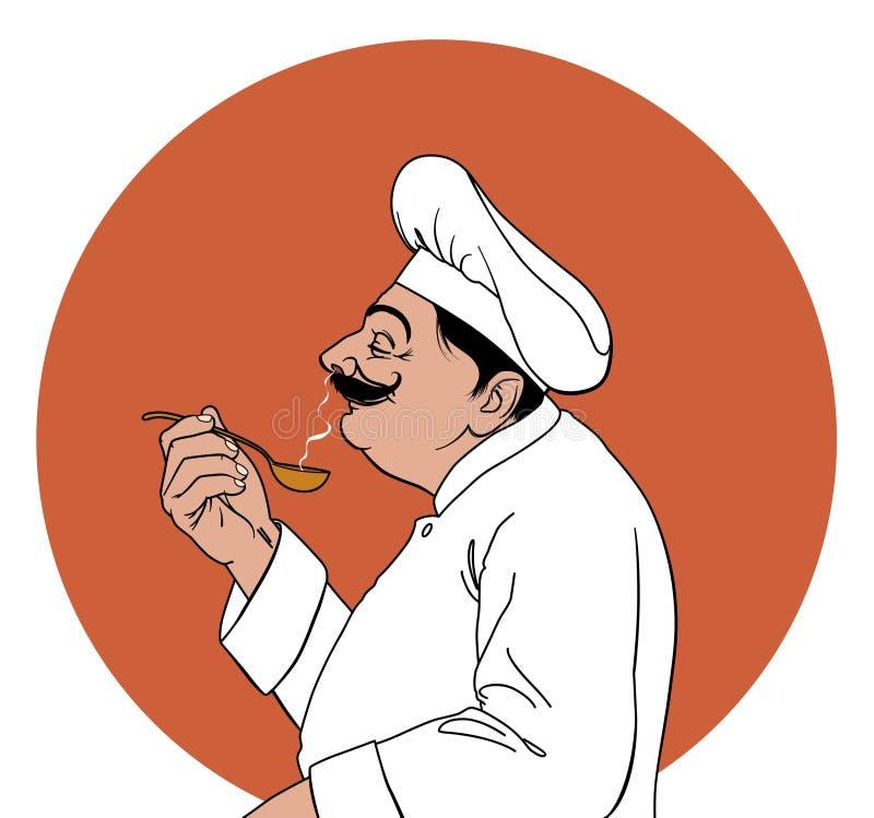 Gosto do cozinheiro chefe ilustração royalty free