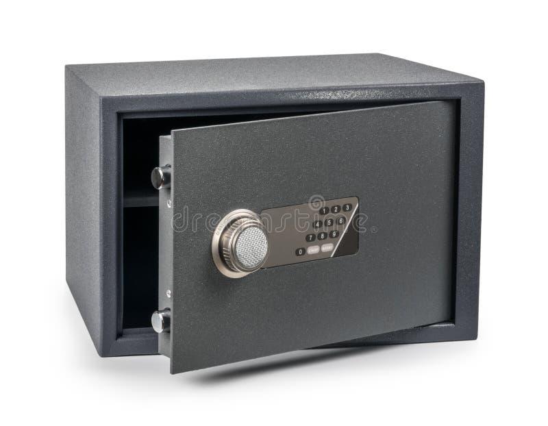 Gotówkowego pieniądze bezpieczny depozytowy pudełko odizolowywający na bielu obraz royalty free