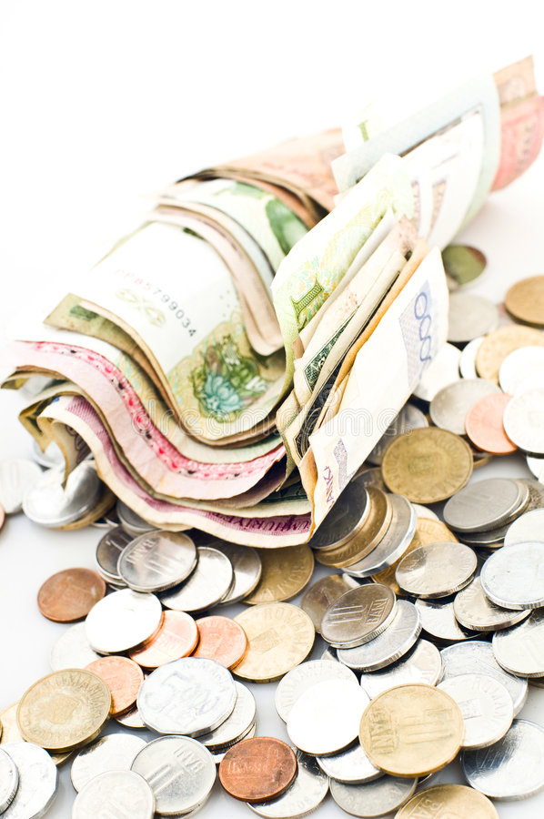 gotówek monety obrazy royalty free
