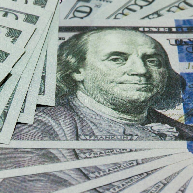 Gotówka 100 dolarów tło obrazy royalty free