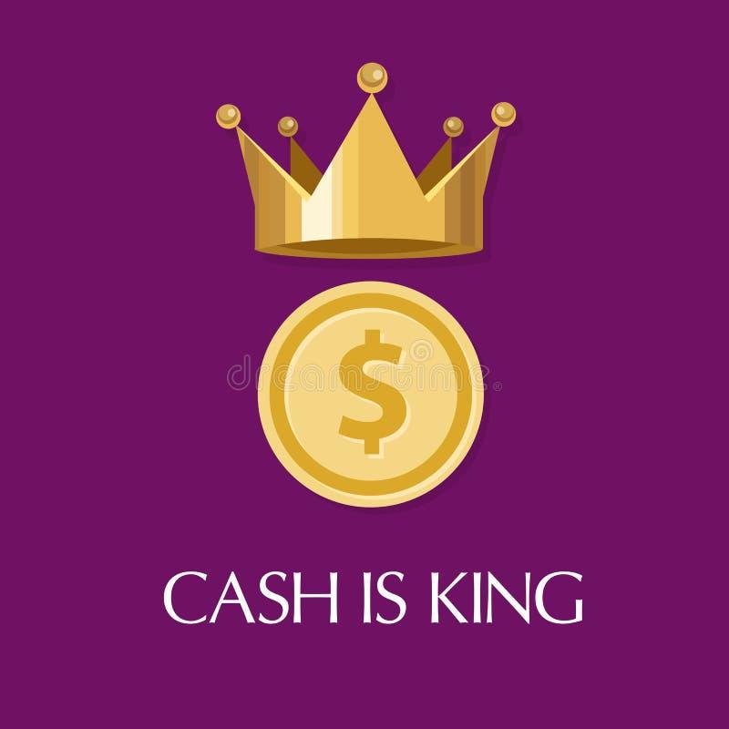 Gotówka jest królewiątka pieniądze everything ilustracji