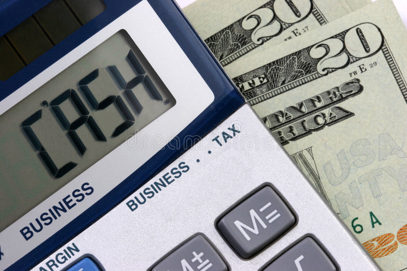 gotówka kalkulator fotografia stock