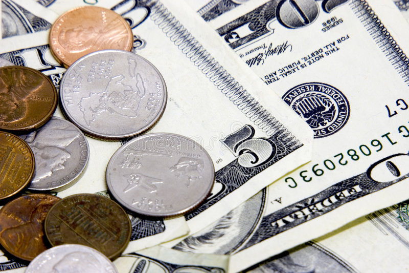 gotówka monety n zdjęcie stock