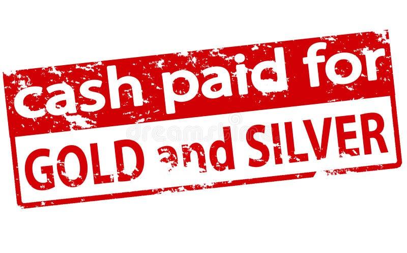 Gotówka płacąca dla złota i srebra ilustracji