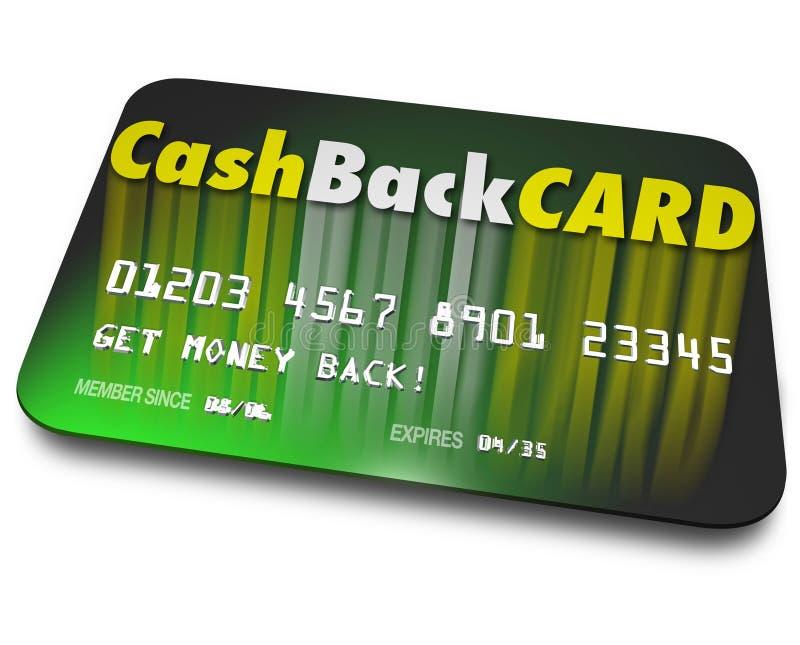 Gotówki Z powrotem Kredytowej karty bodzów nagrody ładunku pieniądze royalty ilustracja