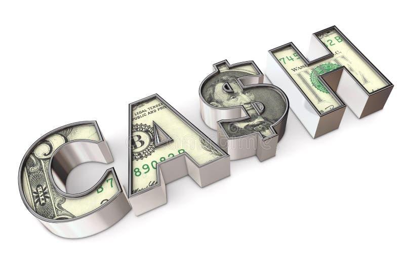 gotówkowa dolarowa tekstura royalty ilustracja