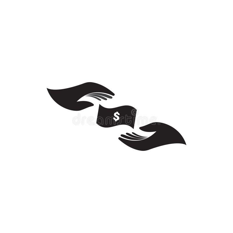 Gotówkowa pieniądze ikony graficznego projekta szablonu wektoru ilustracja ilustracja wektor