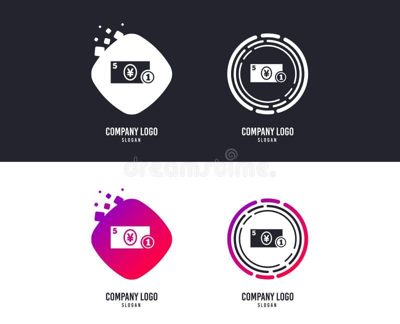Gotówkowa szyldowa ikona Jenu pieniądze symbol moneta wektor ilustracja wektor