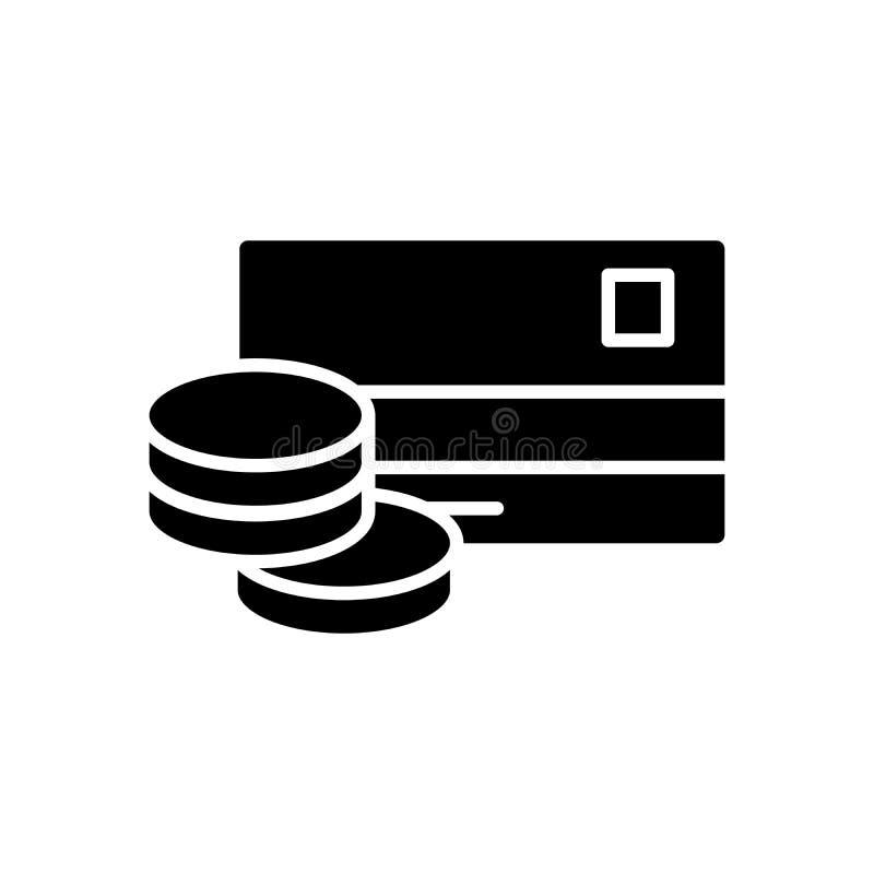 Gotówkowego wycofania czerni ikony pojęcie Gotówkowego wycofania płaski wektorowy symbol, znak, ilustracja royalty ilustracja