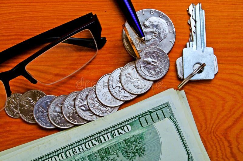 Gotówkowi USA dolary - pojęcie zdjęcie royalty free