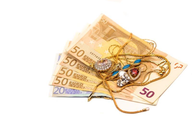 Gotówkowy euro dla złota zdjęcie stock