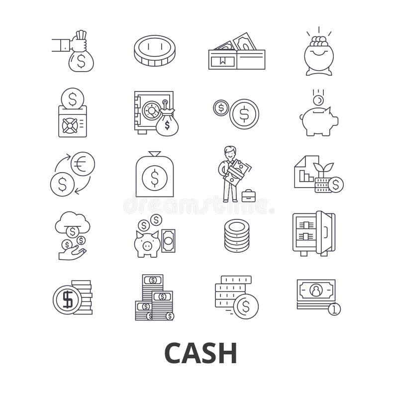 Gotówkowy ikona set ilustracja wektor