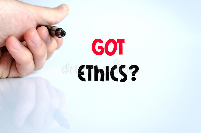 Got ethics text concept. Over white background royalty free stock images