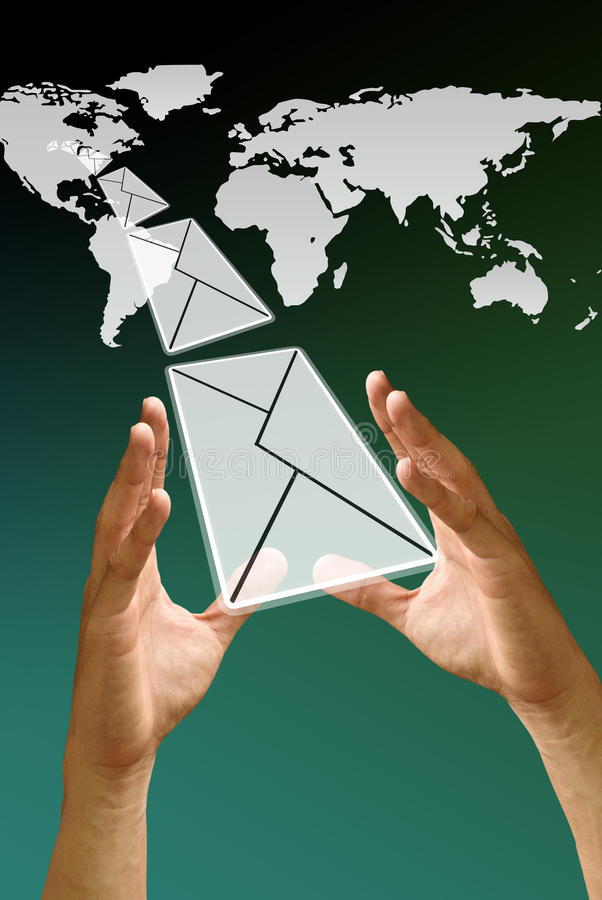Download Got mail from USA stock illustration. Image of send, email - 19806620
