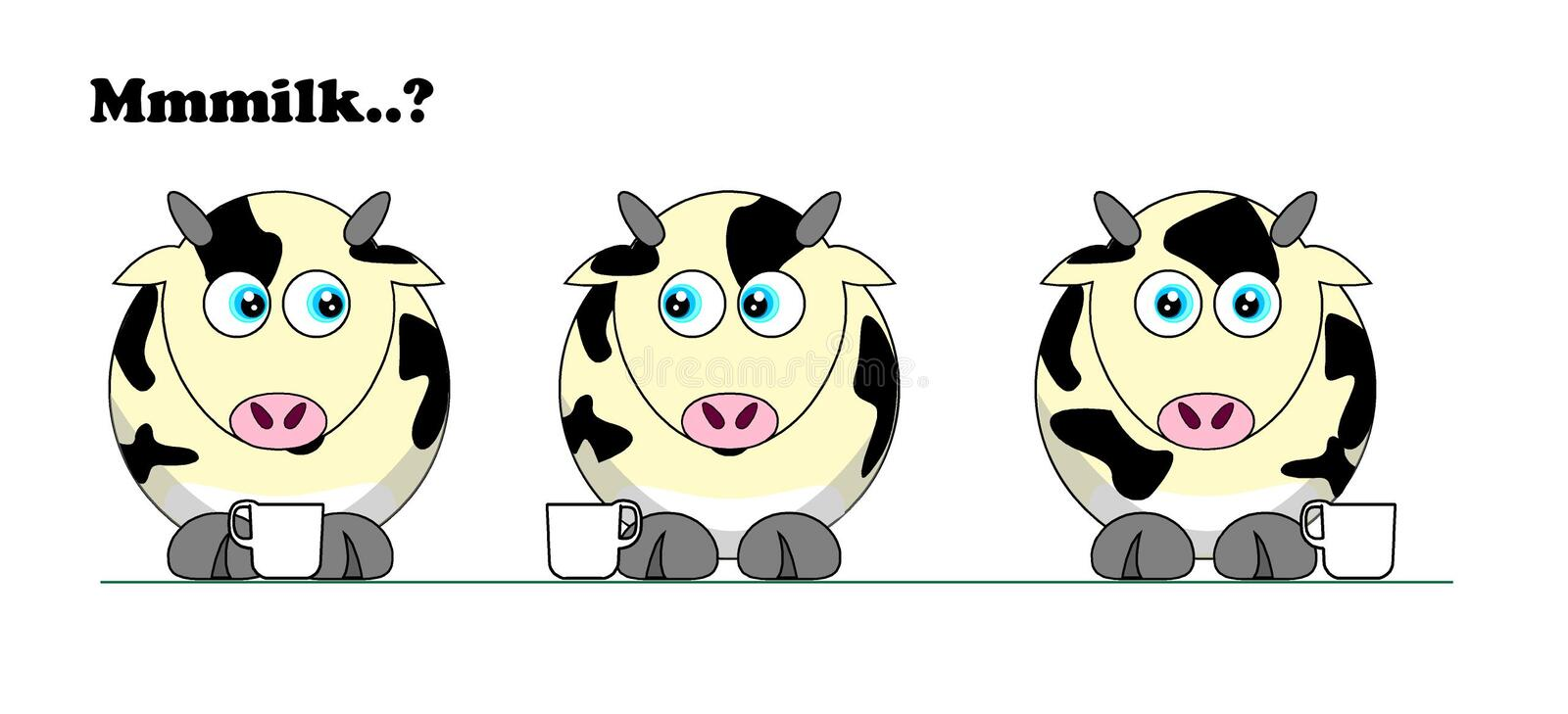 Got milk ? The Coffee Cows royalty free stock images