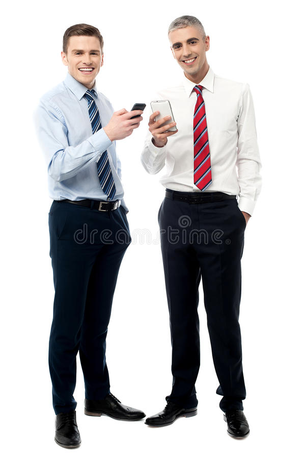 We got a new smart phone. royalty free stock image