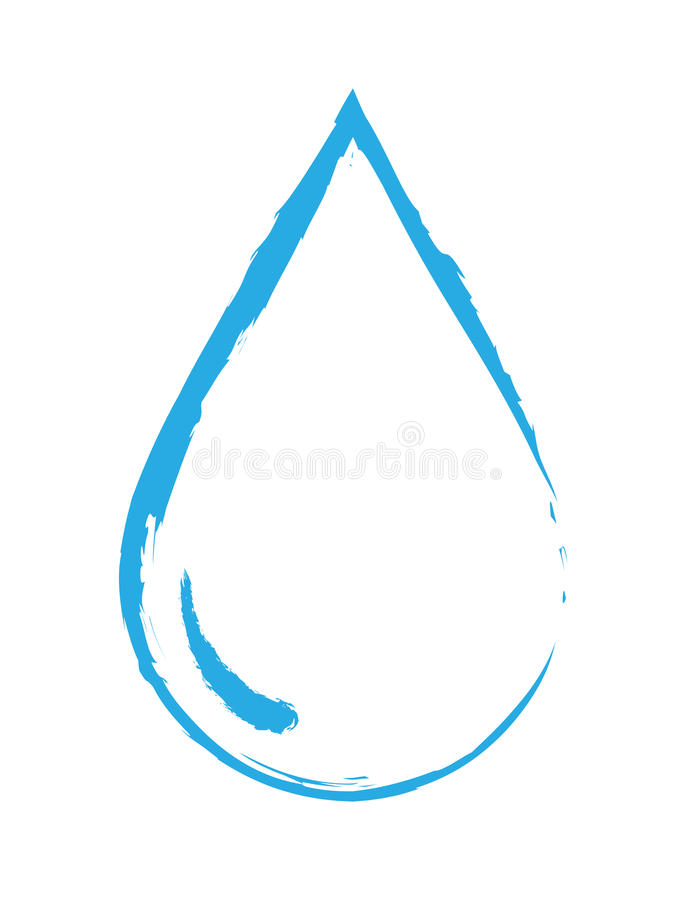 Gota abstracta del agua stock de ilustración