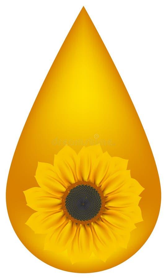 Gota amarilla stock de ilustración
