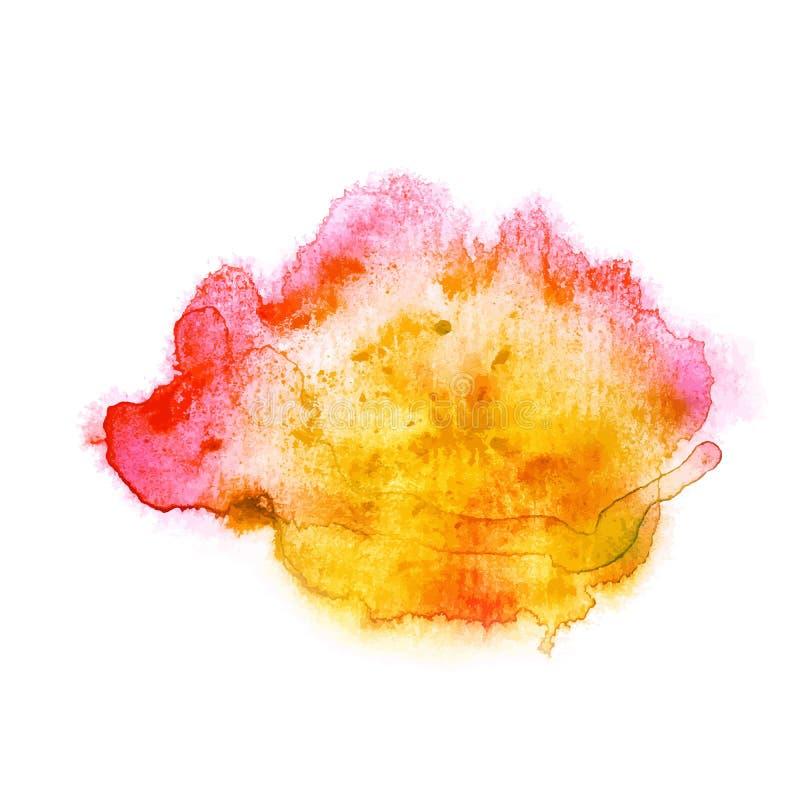Gota colorida de la acuarela ilustración del vector