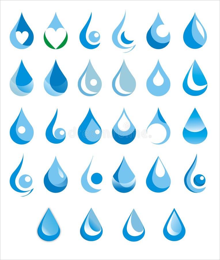 Gota da água ilustração royalty free