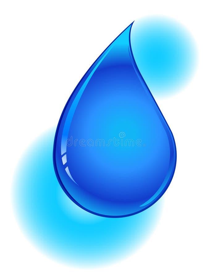 Gota da água azul ilustração stock